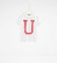 "Bild 1 av T-shirt "" från Zara Toddler Boy Fashion, Toddler Boys, Kids, Zara, T Shirts, Baby Boy, Crop Tops, Women, Graphics"