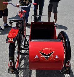Just A Car Guy: a bicycle with a sidecar? I don't remember ever seeing one before, but this JC Higgins model appears to be very Bike With Sidecar, Side Car, Bike Trailer, Motorized Bicycle, Cargo Bike, Jaguar, Baby Strollers, Cycling, Guys