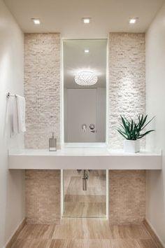 Ocean Drive Condo - modern - Powder Room - Miami - CP Construction & Investment