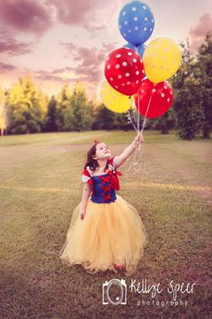 childrens photography balloons stormy sky Snow White tutu dress     Kellye Speer Photography