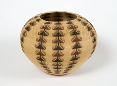 a basket by Dat So La Lee, Lake Tahoe basket weaver of the Washoe tribe