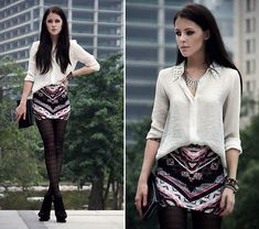 Zara Shirt, Bershka Skirt