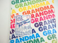 Vintage Wrapping Paper Birthday Grandma NOS 2 by metrocottage