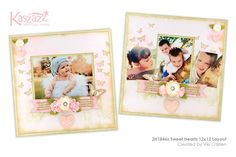 2H1846s Sweet Hearts 12x12 Layout