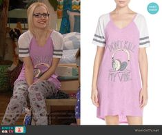 Maddie's Don't Kill My Vibe top on Liv and Maddie.  Outfit Details: https://wornontv.net/59929/ #LivandMaddie