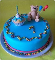Tortenelfes Blog - Backe, backe, Kuchen ...: Motivtorte zum 1. Geburtstag