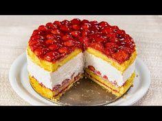 Egy színes álom - Egzotikus epertorta (Szécsi Szilvi) - YouTube Gelato, Cheesecake, Baking, Youtube, Recipes, Food, Ice Cream, Cheesecakes, Bakken