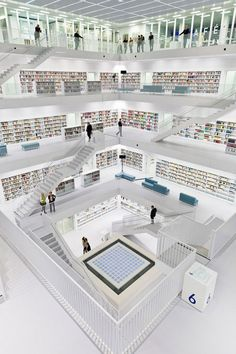 Stuttgart City Library, Stuttgart, Germany One of the Most Beautiful Public Libraries in the World