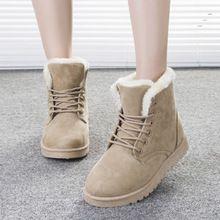 2016 Nuevas botas de nieve estilo Europeo y Americano Martin botas de las mujeres clásicas de invierno bota de Seis color sólido mujeres zapatos DT472(China (Mainland))