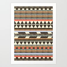 DG Aztec No.1 Art Print by Dawn Gardner | Society6