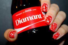 ༇ Coke Nails // Bubbles Nailstorming by diamant sur l'ongle