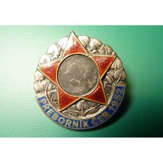 Czechoslovakia - silver badge A master of Czechoslovakia in 1952, numbered, stamping