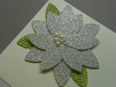 Stampin Up Punch Art Ideas   The sentiment is embossed with a new embossing powder in Pewter. It is ...