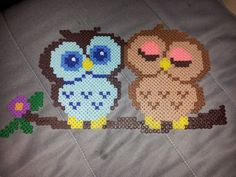 Pareja de búhos by RiverTam218 - Pattern: http://www.pinterest.com/pin/374291419003789672/