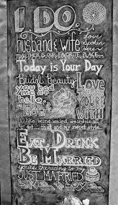 Bear Fox Chalk custom created chalkboards for your wedding. LOVE LOVE LOVE this idea!
