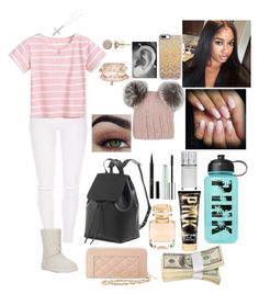 """""""Untitled #599"""" by qwert123456 ❤ liked on Polyvore featuring UGG, Accessorize, Casetify, Eugenia Kim, Clinique, Kevin Jewelers, Guerlain, Boucheron, Victoria's Secret and Charlotte Russe"""
