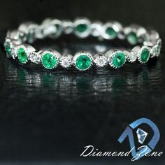 Stackable emerald and diamond eternity band Make it purple & I am sold (okay I would take any color!)!!