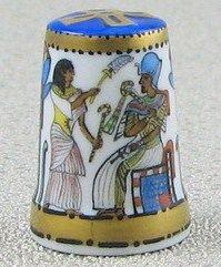 Ägepypten & Pharao-Motivos egipcios- Porcelana pintada a mano por Heinz Schneider-Alemania