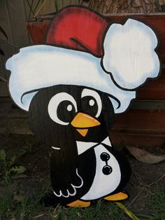 Holiday Penguin yard sign