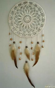 natural color gypsy dream catcher