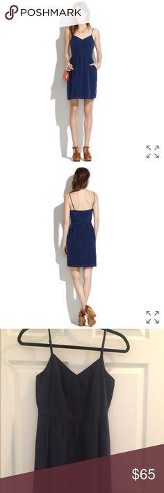 Madewell Navy Silk Cami Dress Madewell navy silk came dress. New with tags Madewell Dresses