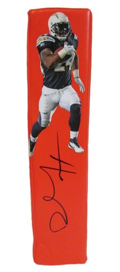 Ryan Mathews Autographed San Diego Chargers Photo Football End Zone Touchdown Pylon. This is a brand-new custom Ryan Mathews signed San Diego Chargers football end zone pylon. This pylon measures 3 inches (Width) X 3 inches (Length) X 13.5 inches (Height). Ryan signed the pylonin black sharpie.Check out the photo of Ryan signing for us. ** Proof photo is included for free with purchase. Please click on images to enlarge. Please browse our websitefor additional NFL & NCAA…
