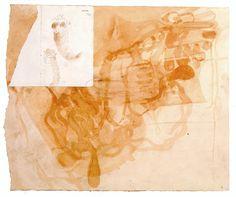 CHAUDRON: Joseph Beuys - 13......? / watercolor, ferrous chloride, pencil, 35,5 x 40,3 cm - 1952.