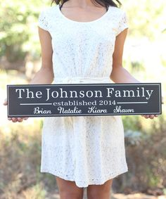 This Long Personalized Family Wall Sign is perfect! #zulilyfinds $34.99