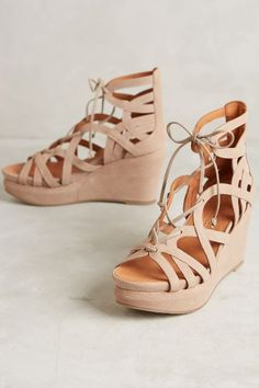 Gentle Souls Gladiator Wedges - anthropologie.com