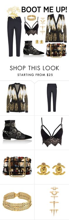 """Hello DECEMBER"" by sascha-haarup on Polyvore featuring Balmain, Jaeger, Isabel Marant, Club L, Chanel and Luv Aj"