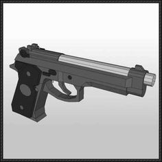 Beretta 92 Pistol Free Paper Model Download - http://www.papercraftsquare.com/beretta-92-pistol-free-paper-model-download.html