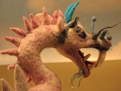 Needle Felted Dragon - Trent would love this!