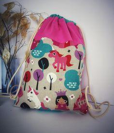 drawstring bag, kids backpack, manomi