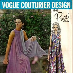 1967 Vogue Pucci of Italy Culotte Jumpsuit Pattern  by SoSewSome, $48.00