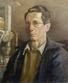John Aldridge - Self Portrait Fry Art Gallery collection John Aldridge, 20th Century Painters, John Nash, Portrait Art, Portraits, Selfies, Artist Biography, Art Uk, Community Art