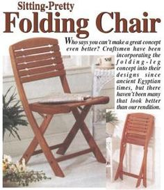 31 DP 00048+ +Folding+Chair+Downloadable+Woodworking+. Woodworking PlansWoodworking  ProjectsWood ...