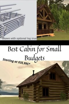 Small Log Home Plans, Small Log Homes, Log Home Floor Plans, Log Cabin House Plans, Tiny House Cabin, Log Cabin Homes, Small Log Cabin Plans, How To Build A Log Cabin, Building A Cabin
