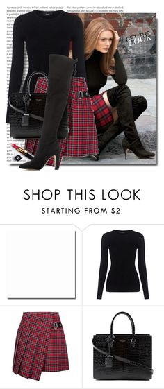"""""""Fall Beauty: black and red"""" by breathing-style ❤ liked on Polyvore featuring Oris, Theory, Yves Saint Laurent, Chanel and Ivanka Trump"""