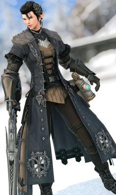 Fantasy Men, Fantasy Story, Final Fantasy Xiv, Shadow Wings, Fantasy Online, Character Bank, Fantasy Outfits, Classy Fashion, Armors