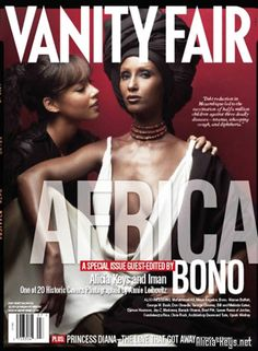 Iman featured on Africa issue of Vanity Fair