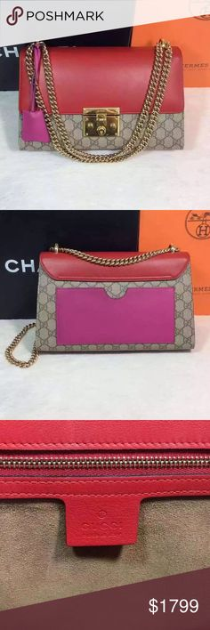 Auth Gucci 2016 Padlock Multi Color Bag Medium Comes with receipt and full set of accessories! 100% GUARANTEED AUTHENTIC OR 10X YOUR MONEY BACK!!  PHOTOS ARE TAKEN OF THE EXACT SAME ITEM YOU WILL RECEIVE! WHAT YOU SEE IS WHAT YOU GET*** PLEASE VISIT OUR WEBSITE AT WWW.AUTHENTICLUXURIESTW.COM or email me at authenticluxuries11@gmail.com for more detailed photos =). Gucci Bags Shoulder Bags