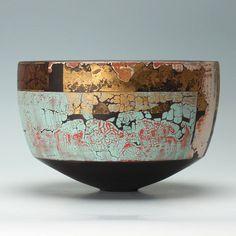 Black porcelain bowl by Tony Laverick.