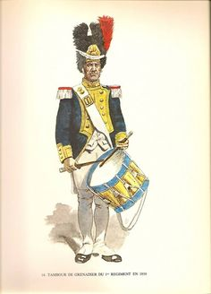 Swiss; 1st Line Infantry, Grenadier Drummer, 1810 by Jacques Calpini