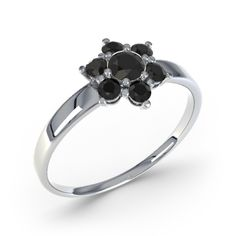 Black Onyx White Gold Ring | 21DIAMONDS