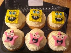 Spongebob cupcakes Cakes by Aunt Bet on Facebook