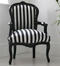 Hattie Black And White Striped Chair   Modern   Armchairs     By Not On The  High Street Beautiful Upholstery!