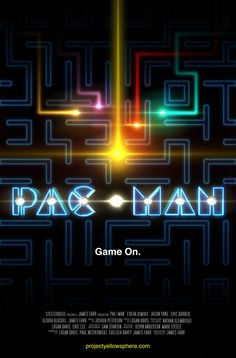 PacMan Movie Poster by LoganEDavis #pacman #movie #gaming
