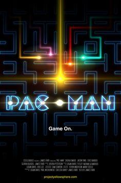 PacMan Movie Poster by LoganEDavis #pacman #movie #gaming