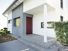 Hauseingang vom ART 5 Bungalow von HUF Haus • Mit Musterhaus.net ...