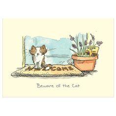 Attention...chat adorable croquée par l'illustratrice Anita Jeram